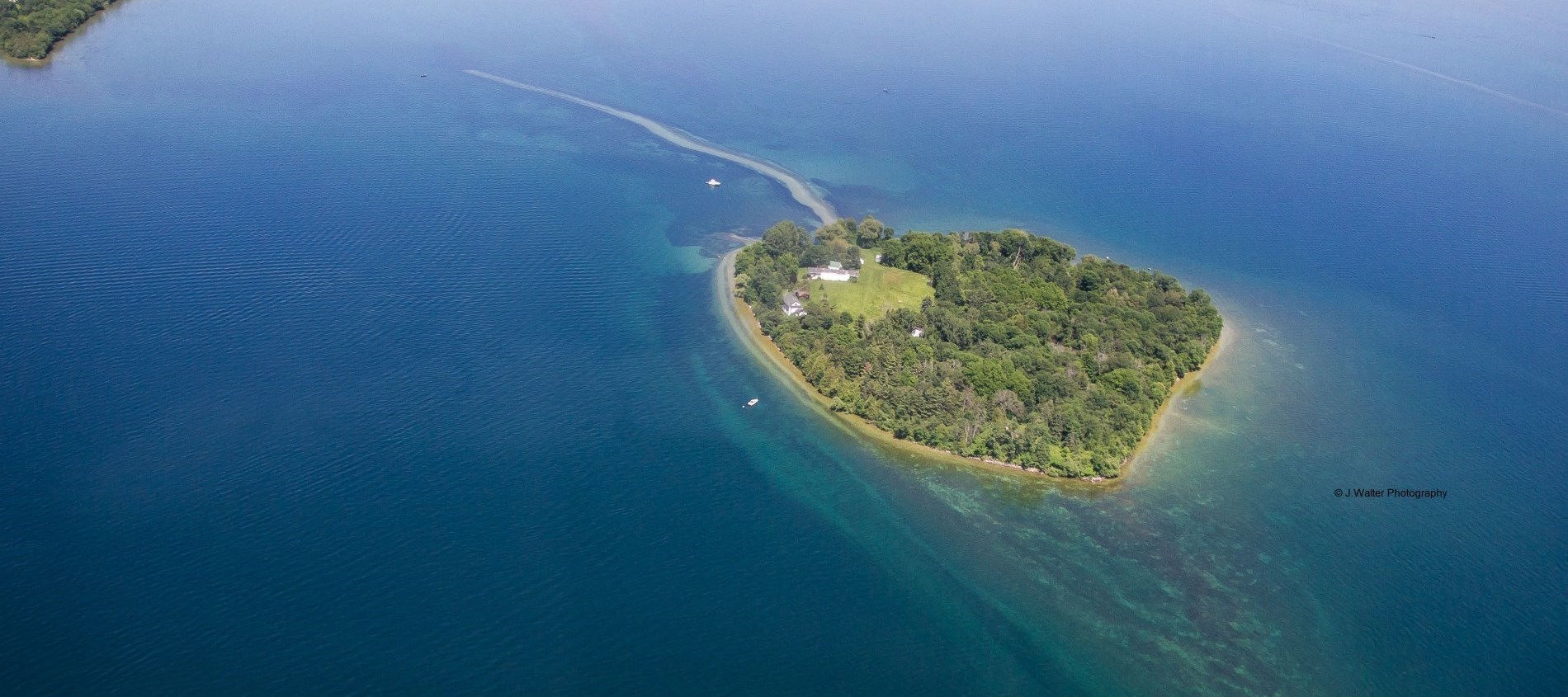 Ariel Picture of Strawberry Island in Ramara