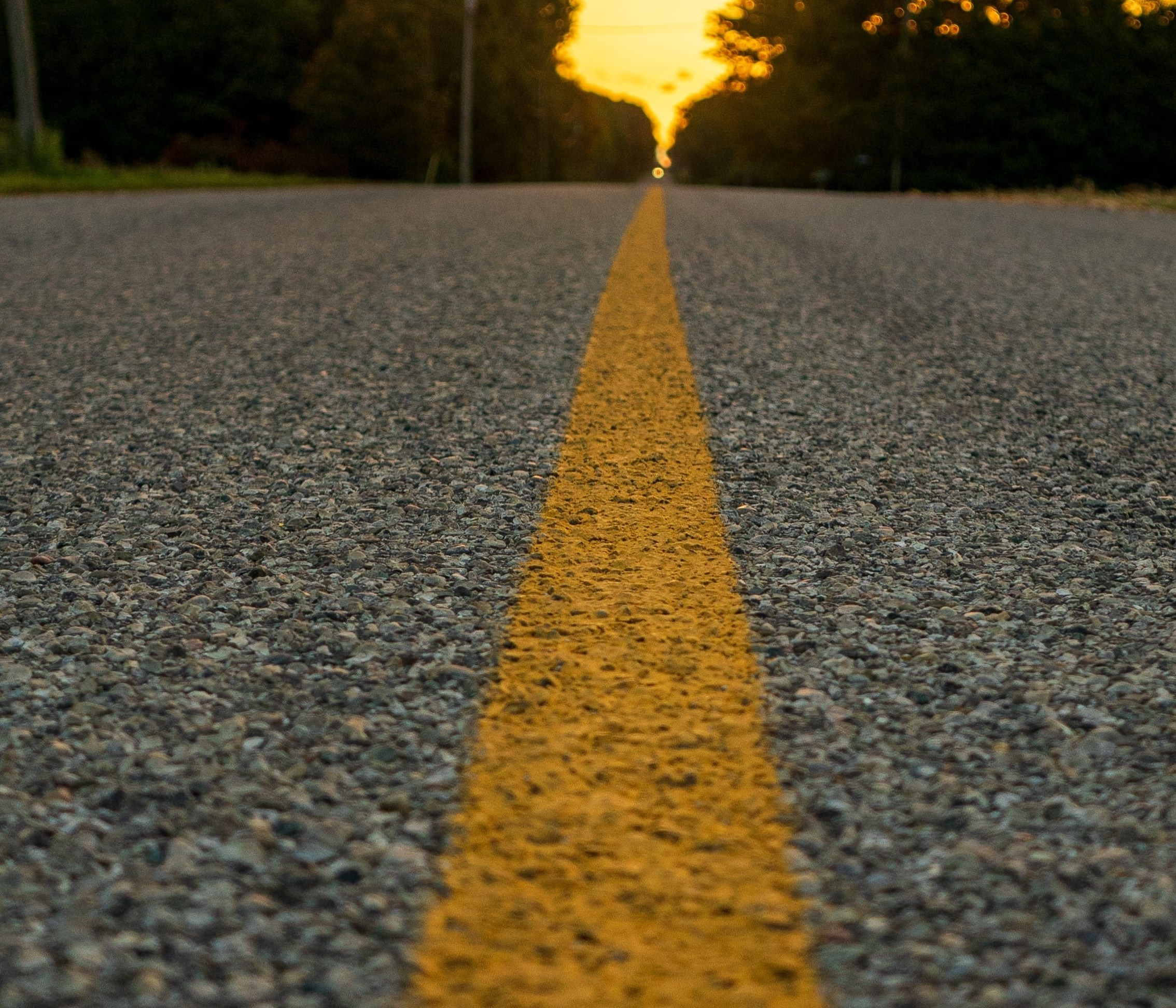 Picture of a road way with painted line